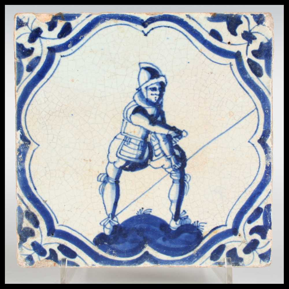 Dutch delft tiles capriolus contemporary ceramics gallery dutch delft tile soldier doing exercises dailygadgetfo Image collections